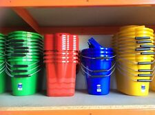 1 x Coloured Mop Bucket Green Red Blue Yellow With Wringer & Handle - Food Safe