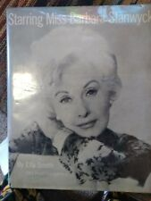 Starring Miss Barbara Stanwyck by Ella Smith 1974 HB/DJ First Edition