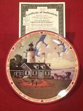 """Bradford Exchange """"Hometown Memories"""" Collector Plates #6 Of 6 w/COA"""