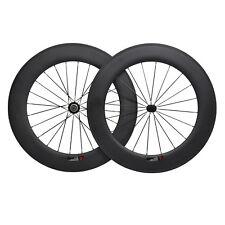 88mm Clincher Carbon Wheels 700C Powerway UD matt Road Bike Cycle Basalt Rim 11s