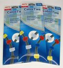 APC CTWMP6 Reusable Color Coded Hook & Loop Cable Rip Ties 3x Retail Packs of 6