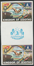 Lesotho (1277) - 1984 OLYMPICS SWIMMING IMPERF GUTTER PAIR unmounted mint