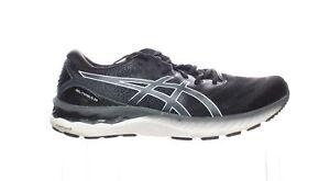 ASICS Mens Gel-Nimbus 23 Black/White Running Shoes Size 12 (2097329)