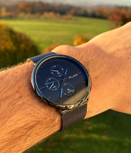 Herrenuhr Armbanduhr Moderne Uhr Männer Schwarz