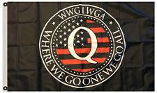 QAnon WWG1WGA Flag 3x5 Political Banner American Trump Man Cave