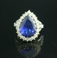 Turkish Handmade Jewelry Sterling Silver 925 Sapphire Ring 7,8,9,10