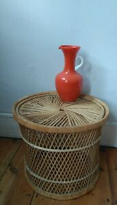 Vintage boho Bamboo stool  Coffee / Side Table Retro 60's 70's Plant Stand