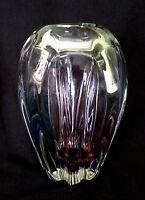 "Vintage Narumi Glass Japan heavy hand blown vase ""Fantasy"" 7"""