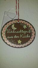 nostálgicos CUADRO MADERA weihnachtsgruß de la cocina navidad NUEVO Horno