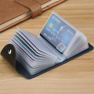 Men Women Wallet Credit Card Holder Leather Purse Pocket Black Messenger ID NEW