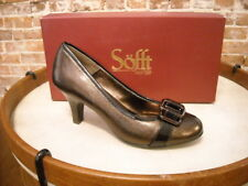 Sofft Vivia Copper Brown Leather Buckle Comfort Pumps 8 SALE