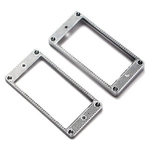 2 Pcs Metal Humbucker Pickup Mounting Ring for LP Electric Guitar Accessory