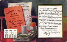 May 1909 Postcard Ottawa Banking and Trust Co Ottawa, Illinois~114002