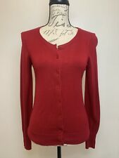 Express Women's Red Cardigan Small