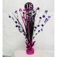 18th Birthday Spray Centrepiece Table Decoration Black Pink Purple Age 18 Party