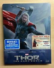 Marvel THOR The Dark World [2D + 3D] Blu-ray STEELBOOK [HONG KONG]