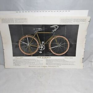 """RARE 1918 Haverford Cycle """"Black Beauty"""" Pennsy Military Model Sales Brochure!!"""