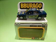BBURAGO  0105  MERCEDES BENZ 190E  -  MONROE  - 1:24 - VERY GOOD IN BOX