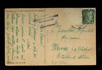 1940s Niedersedlitz Germany Arbeitslager Slave Labor Camp Postcard Cover to BM