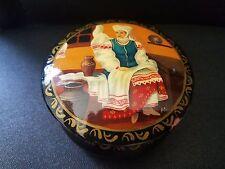 Vtg Wooden Jewelry Trinket Box Hand Crafted  in Ukraina