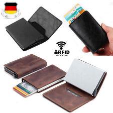 Leder Kartenetui Mini Geldbörse RFID Schutz Blocking Kreditkartenetui Geldbeutel