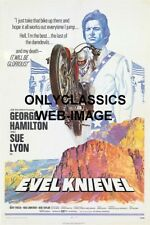 1971 DAREDEVIL EVEL KNIEVEL HARLEY DAVIDSON XR750 MOTORCYCLE 12X18 MOVIE POSTER