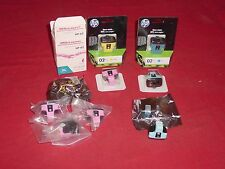 HP Printer Ink Cartridge #02 Assortment Magenta Yellow Cyan (10)