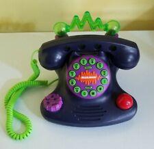 Vintage 90s Nickelodeon Talk Blaster Land Line Telephone Purple Light Up