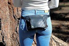 Leather Belt Bag, Waist Pack Black, Womens Fanny Pack, Festival Hip Bag Leather