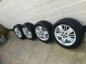 4x MG ZT Rover 75 Alloy Wheels with Excellent Tyres 205 55 16R
