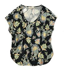 LOFT - Women's M - NWT - Navy/Multi Paisley Floral Mixed Media Dolman Tee