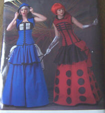 steampunk costume PATTERN 3 pc DRESS 14 16 18 20 22 corset shrug multi layers pc