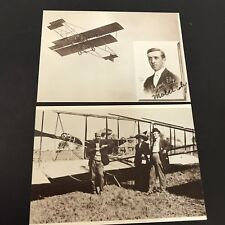 Eugene Ely Aero Pioneer 1982 Reproduction Postcards Vtg Flying Machines Lot Of 2