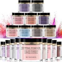 10ml MEET ACROSS Dipping Nail Powder Glitter Pigment Dip System Liquid DIY Kit