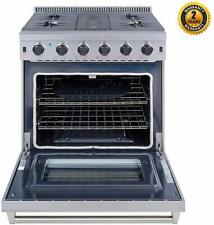 """Cooktop Stove 30"""" Gas Range 5 burner with oven Stainless Steel Lrg3001U"""