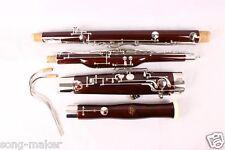 New Advance Bassoon C tone nice maple wood 26 key Fine quality Free case  #b15