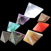 3 x Pyramid 10mm Crystal Gemstone Healing Orgone Reiki Feng Shui Grid Cab