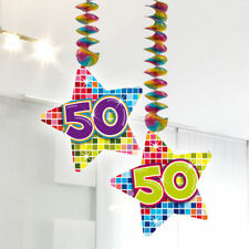 Drahtgirlande 30 Geburtstag bunt L=2,7 m Girlande Party Fest Feier Dekoration