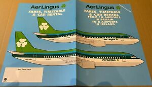 AER LINGUS - IRELAND TO UK TIMETABLE - SUMMER 1991 - OVERSIZE BOEING 737 COVER