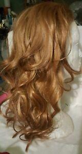 Wig~Wavy Layered Blond 3/4th Band wig~Strawberry Blond~Shiny-GLOBAL