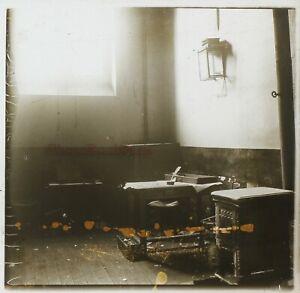 Frankreich Paris Gefängnis Große Rucola c1900 Foto Stereo Platte De Verre VR11x4