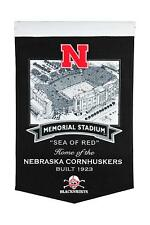 College Nebraska Cornhuskers Ncaa Stadium Pennant Wool Banner 58x38