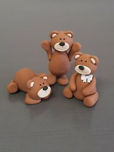 Teddy Fondant Cake Toppers