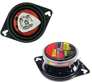 """BOSS CH3220 3.5"""" 2-Way 140W Car Audio Coaxial Speakers Stereo Red PAIR"""