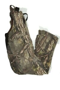 Master Sportsman Men's XL Cotton Camo 4-Pocket Bib Overalls RealTree Camouflage