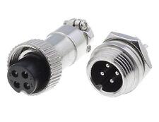 Spina, Presa, Microfonica MINI 4 Poli, Connettore, Spina Pannello + Presa 4 Poli