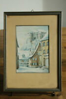 45.187 - Aquarell, sign. C. Moser, datiert 1946 - Hintere Gasse m. Schloss, HDH