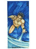 2014 Marvel Premier Namor Sub-Mariner Sketch Card Cris Santos Upper Deck Hinge