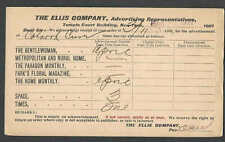 1901 PC NY ELLIS CO SUBSCRIPTION FOR GENTLEWOMEN METRO RURAL HOME ETC