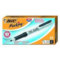 Bic Ultra Fine Point Permanent Marker - Black Ink - 12 pack (GPMU11BK)
